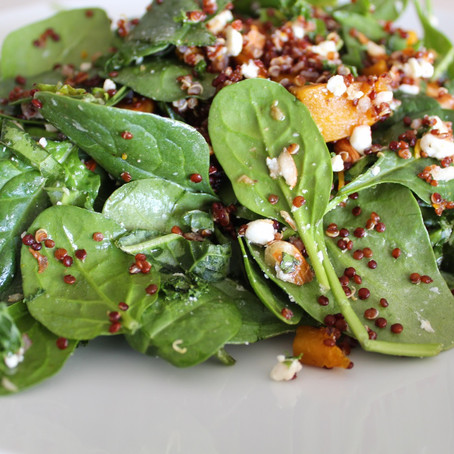 Butternut Squash Spinach Power Salad