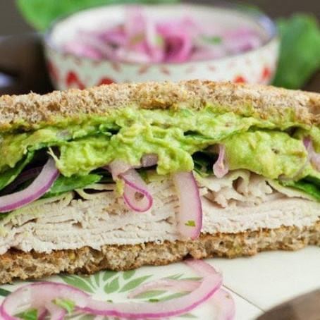 Turkey Guacamole Sandwich