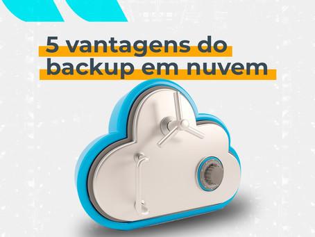 5 vantagens do backup em nuvem