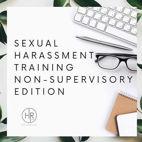 Sexual Harassment Training Packet - Non-Supervisory