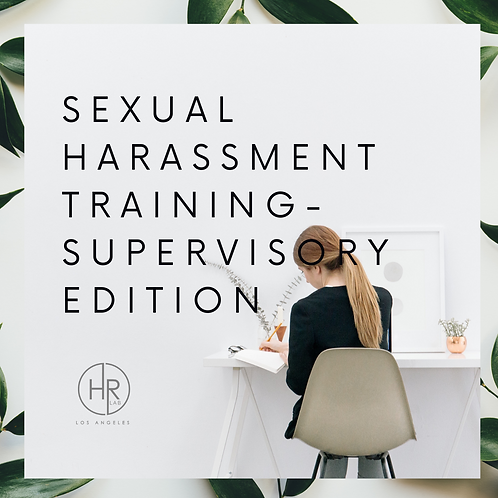 Supervisory Sexual Harassment Training Packet