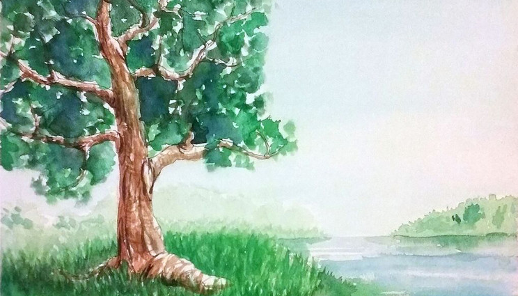 Watercolor Brook