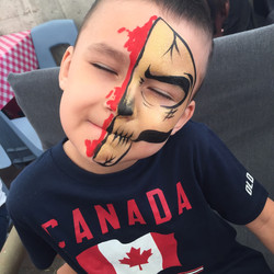 Face Painting, Skull, Gold