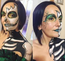 Face Painting, Body Painting, Skull, Skeleton