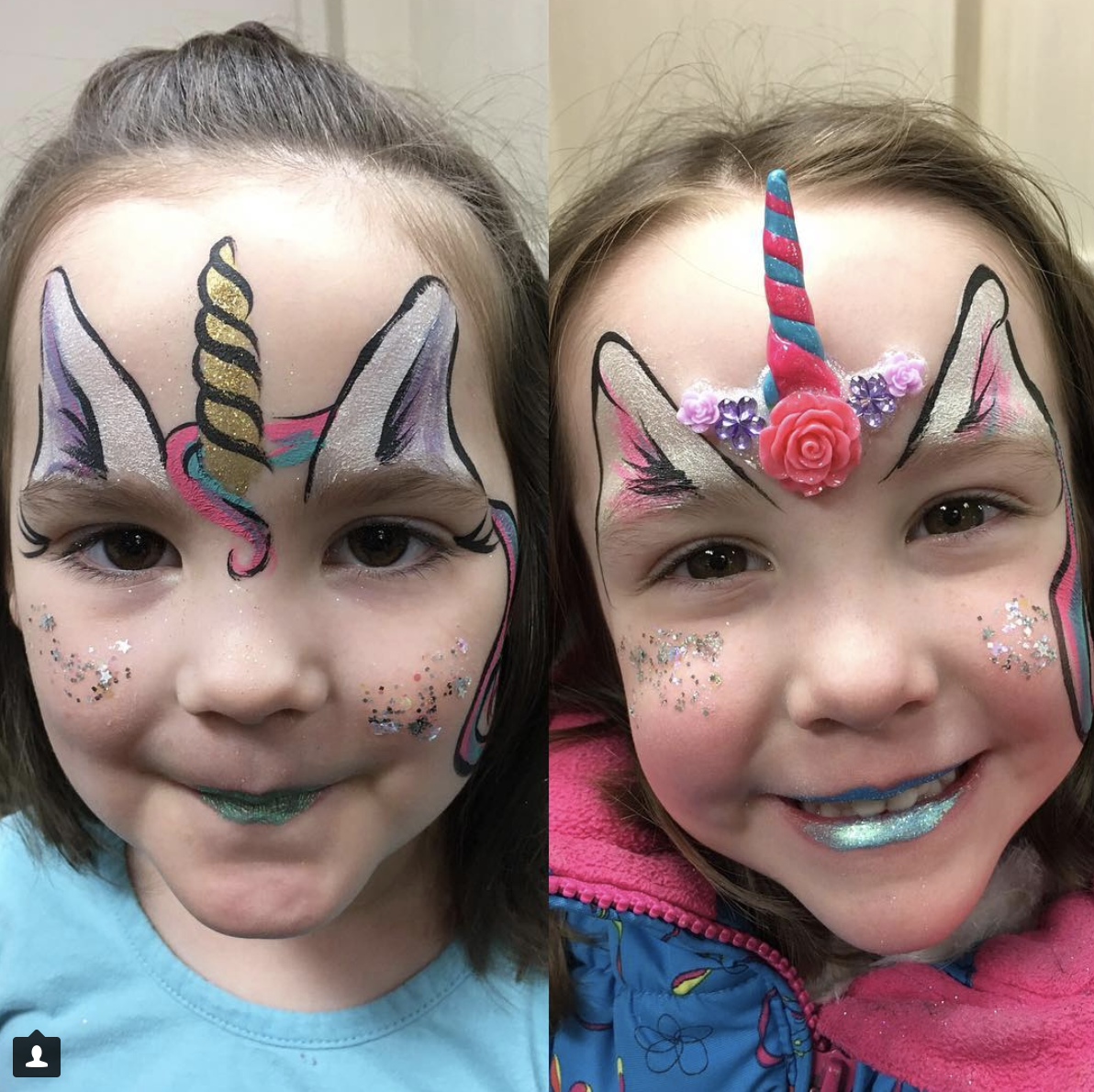 Unicorn Face Painting and Bling