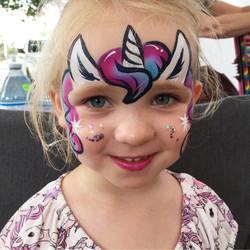 Face Painting, Unicorn, Girl