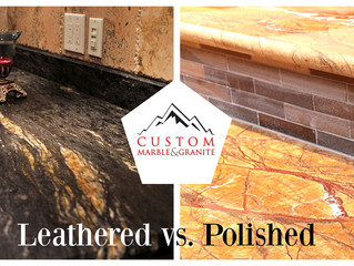 Leathered vs. Polished Granite