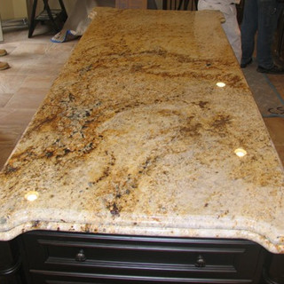 Colonial gold granite with an ogee over