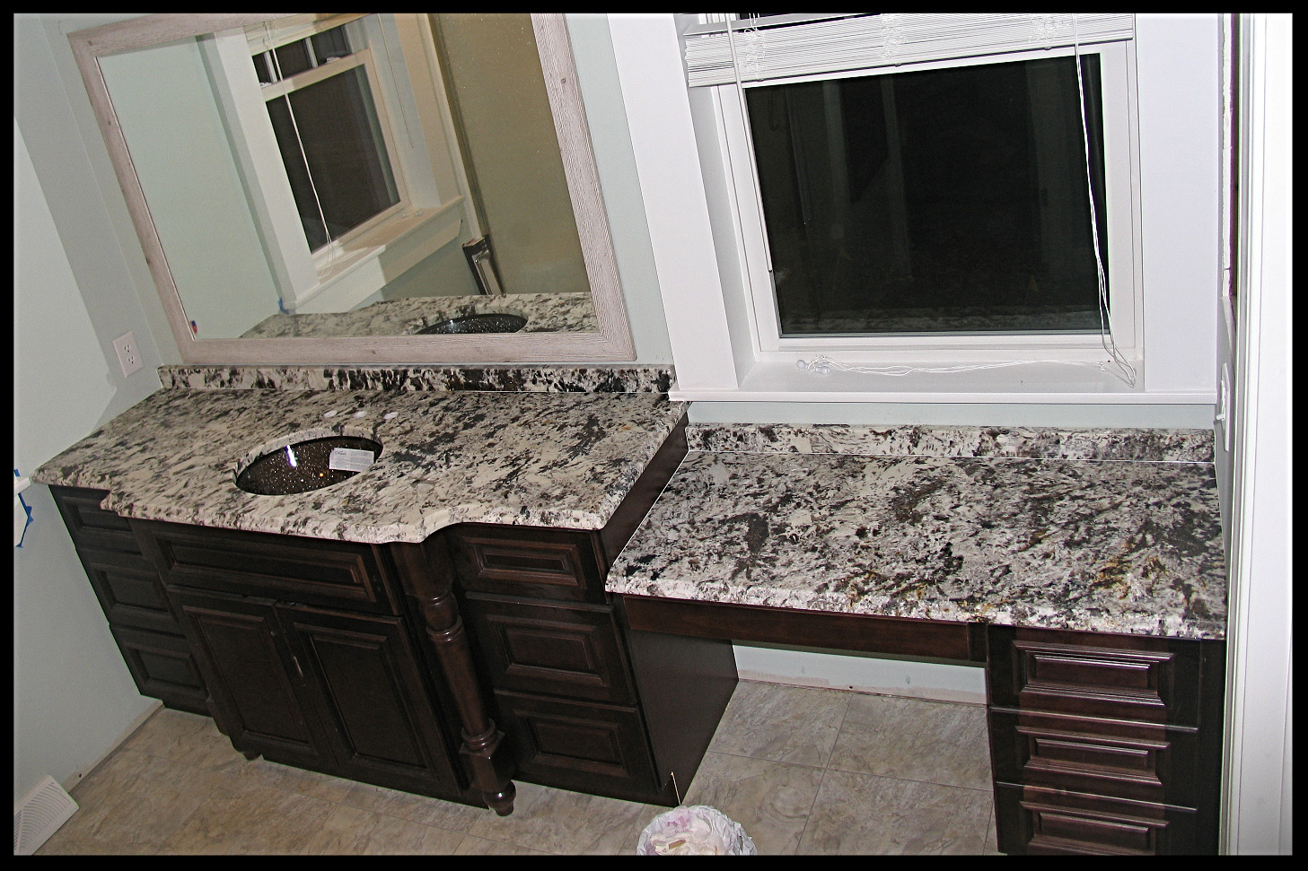 Alpine White Leather Granite