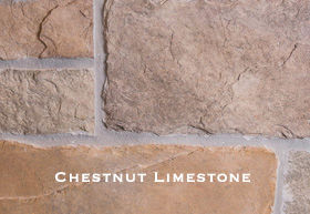 Chestnut Limestone installed on a wall