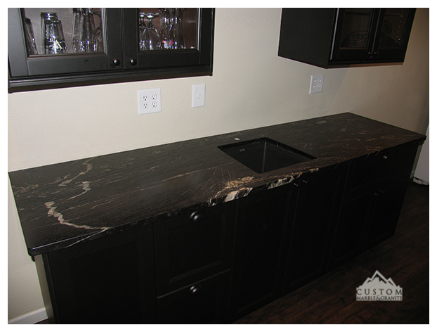Riverwashed Cyclone granite bar counter tops