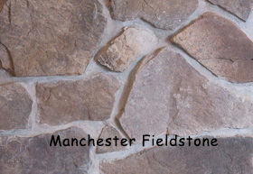 Manchester Field Stone on a wall.