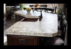 White Galaxy Granite with Miter edge profile
