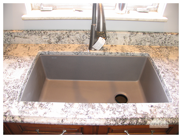 White Salinas Granite Sink