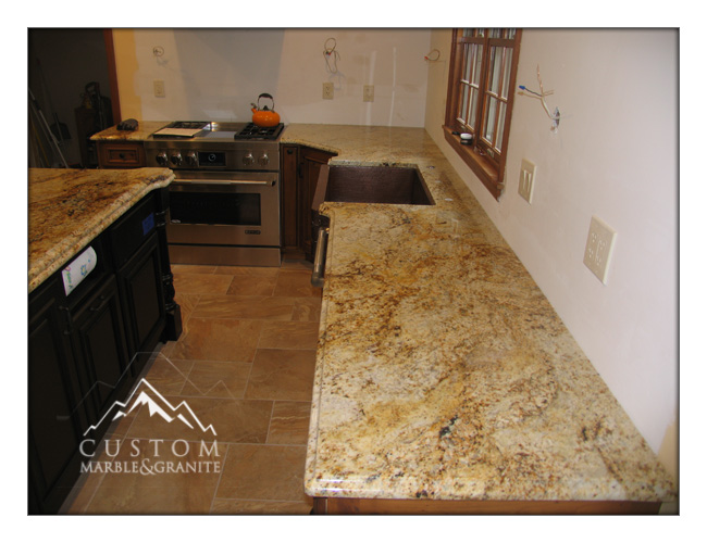 Colonial Gold granite kitchen countertop