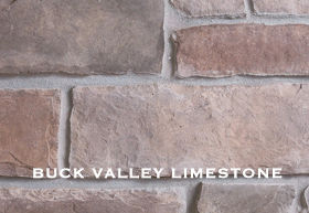 Buck Valley limestone installed on a wall.