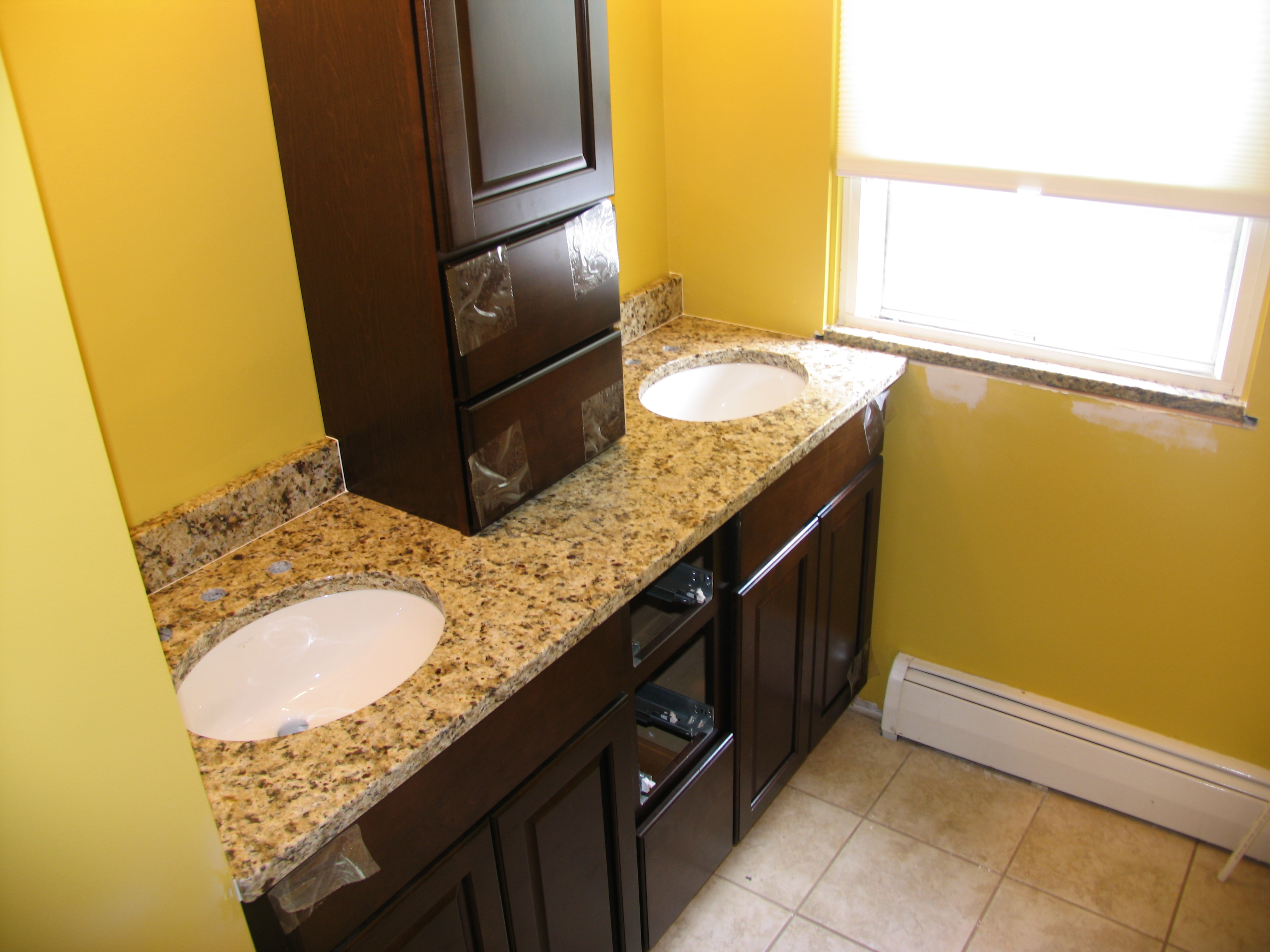 Ornamental Cream Granite Sink