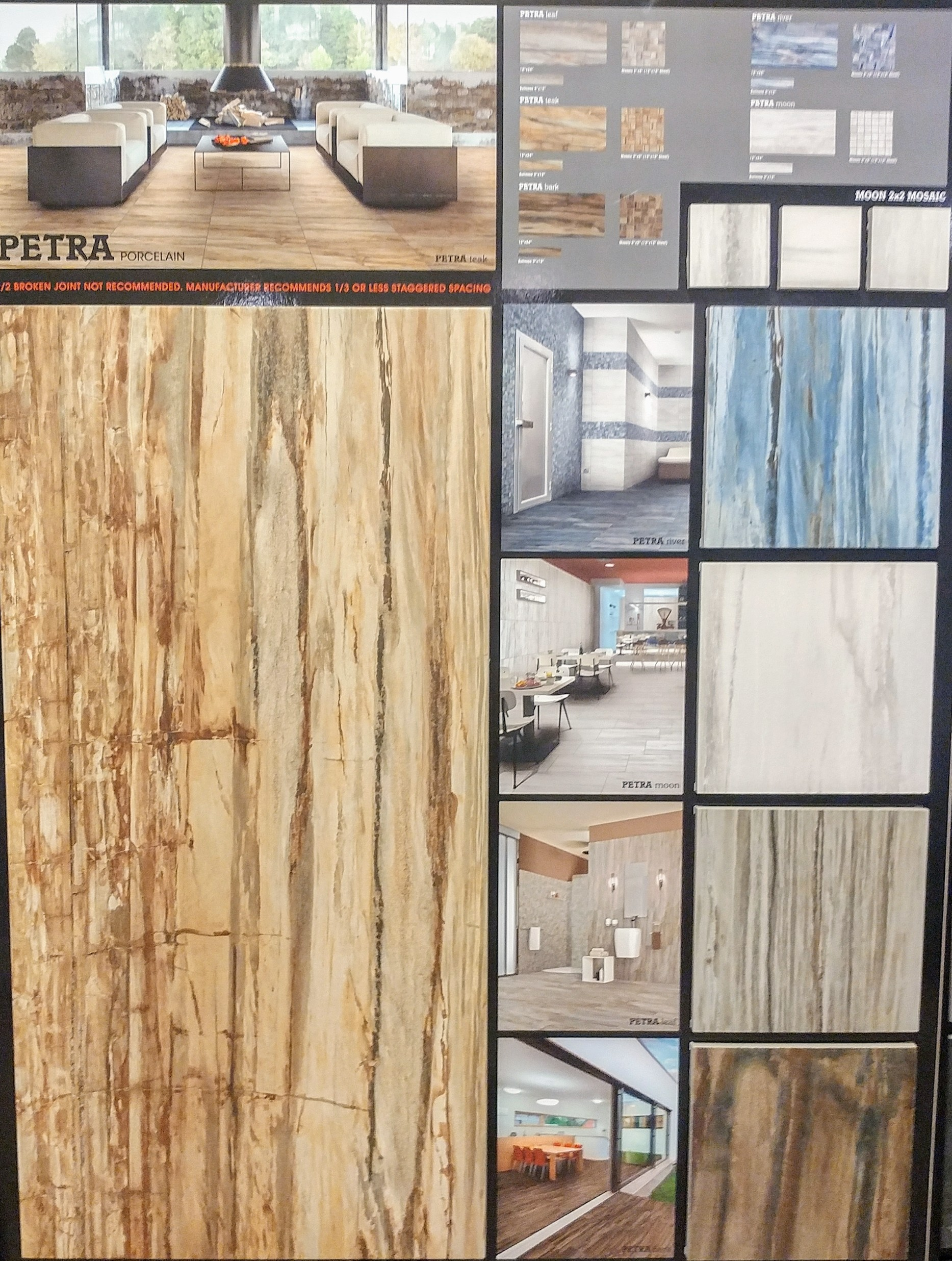 Petra Porcelain Tile Display