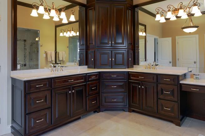 Botticino Marble Master Bath vanity