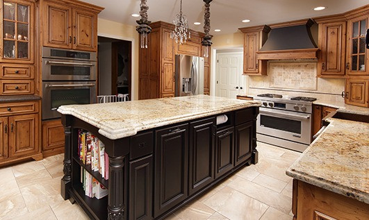 Ogee over bullnose Colonial Gold Granite