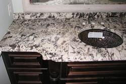 Alpine White Leather Granite