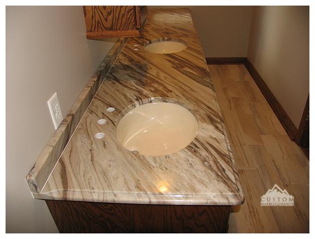 Allura Marble Double Vanity Countertop
