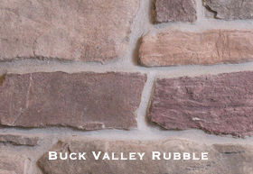 Buck Valley Rubble Stone installed on a wall.