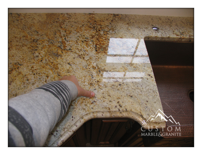 Colonial gold granite seam