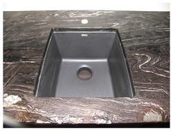 Riverwashed Cyclone Granite bar top with black sink