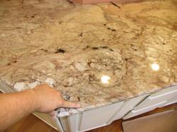 Sienna Bordeaux Granite Seam