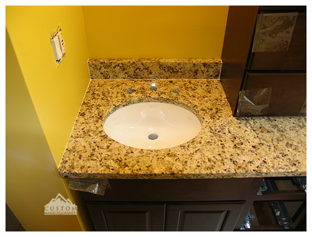 Ornamental granite vanity top