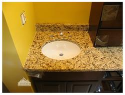 Ornamental granite vanity top