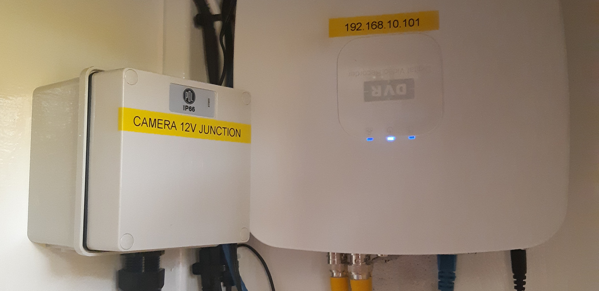 CCTV and network router