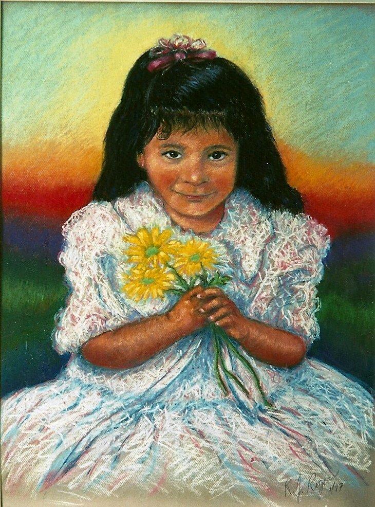 Girl w/ flowers