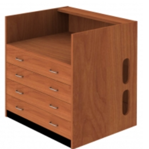 4 Drawer Patron Desk