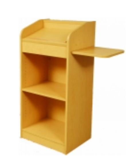 Lectern with Slideout Shelf