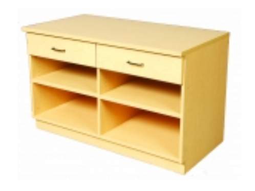 "48"" Base - 2 Drawers, Open Below"