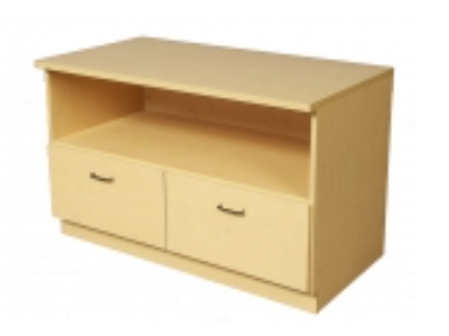"""48"""" Base - 2 Deep Drawers, Open Storage Above"""