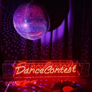 Dance Contest - Red Neon - Vinyl & Mirrorball Prop