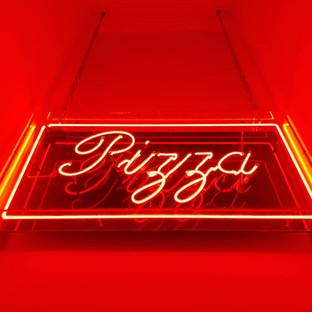 Pizza Red Neon Billboard Sign