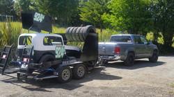 balanced amarok towing trailer