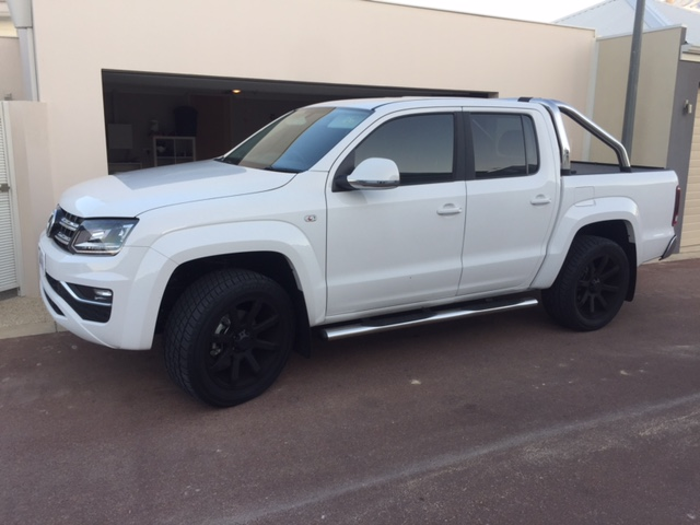 V6 Amarok with leveled/balanced susp