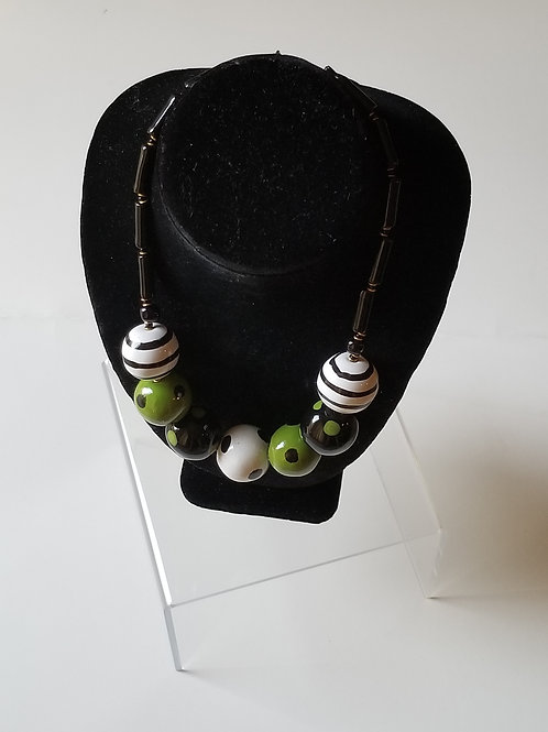 7-Beads Patchwork Necklace