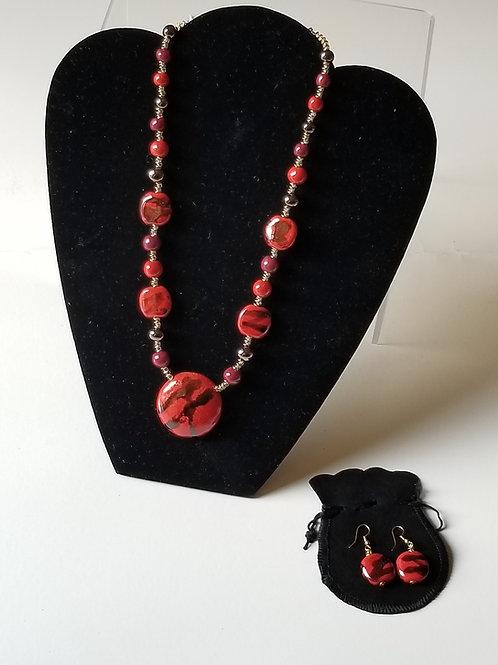 Benin - Firefly (set with earrings)