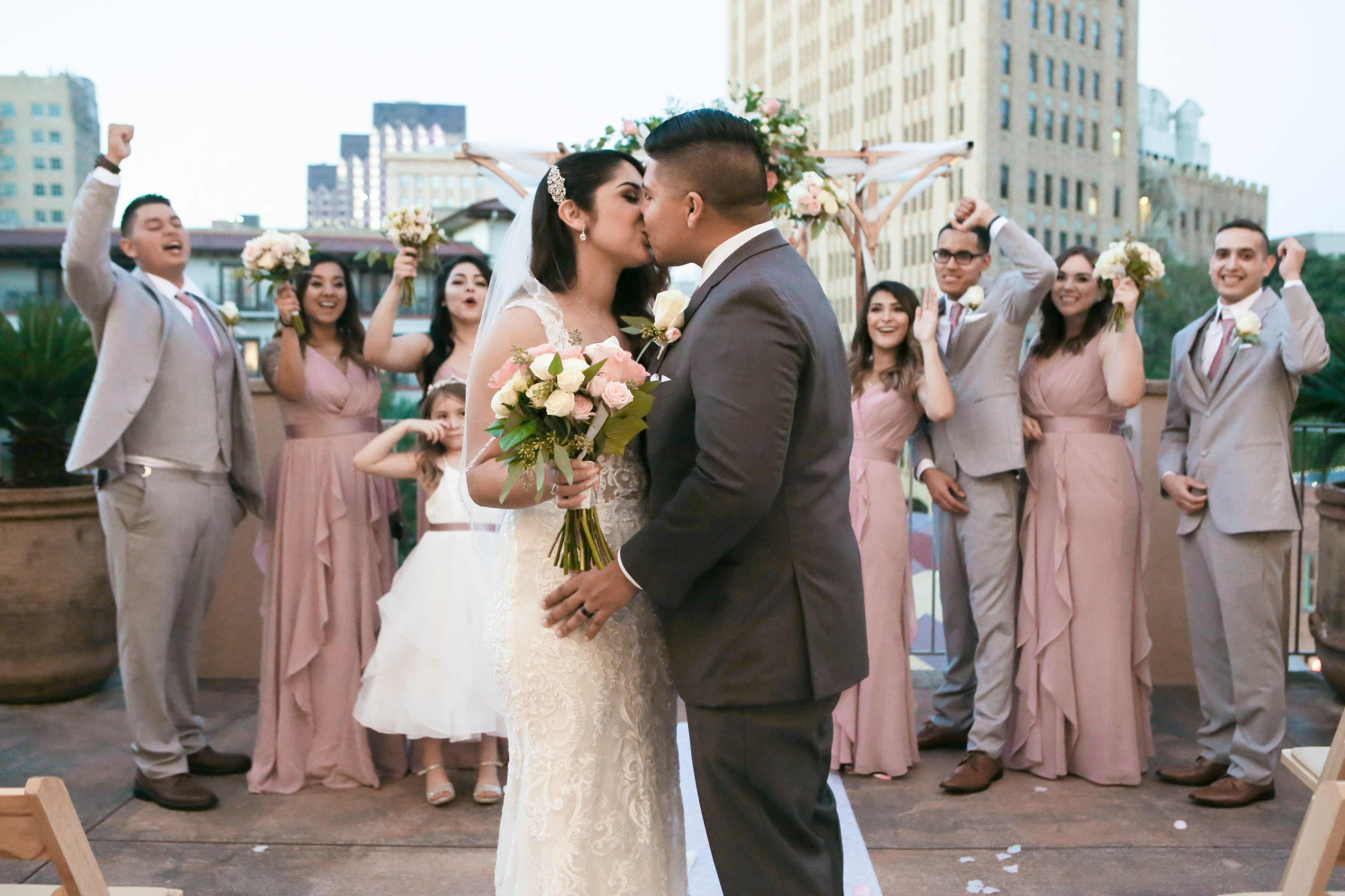 Rooftop Ceremony - Alyssa & Roland