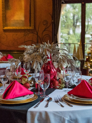 Red-Gold Holiday Decor