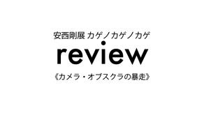 review「安西剛展 カゲノカゲノカゲ」