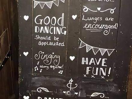 Wedding Dancing Sign