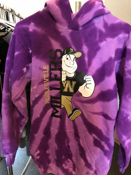 Purple Tie Dye Miller Man Sweatshirt