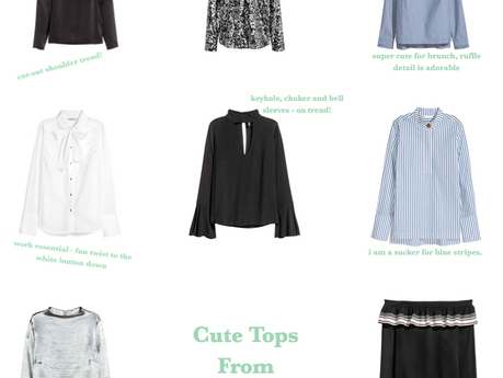Fashion Round-Up | Cute Tops From H&M Online